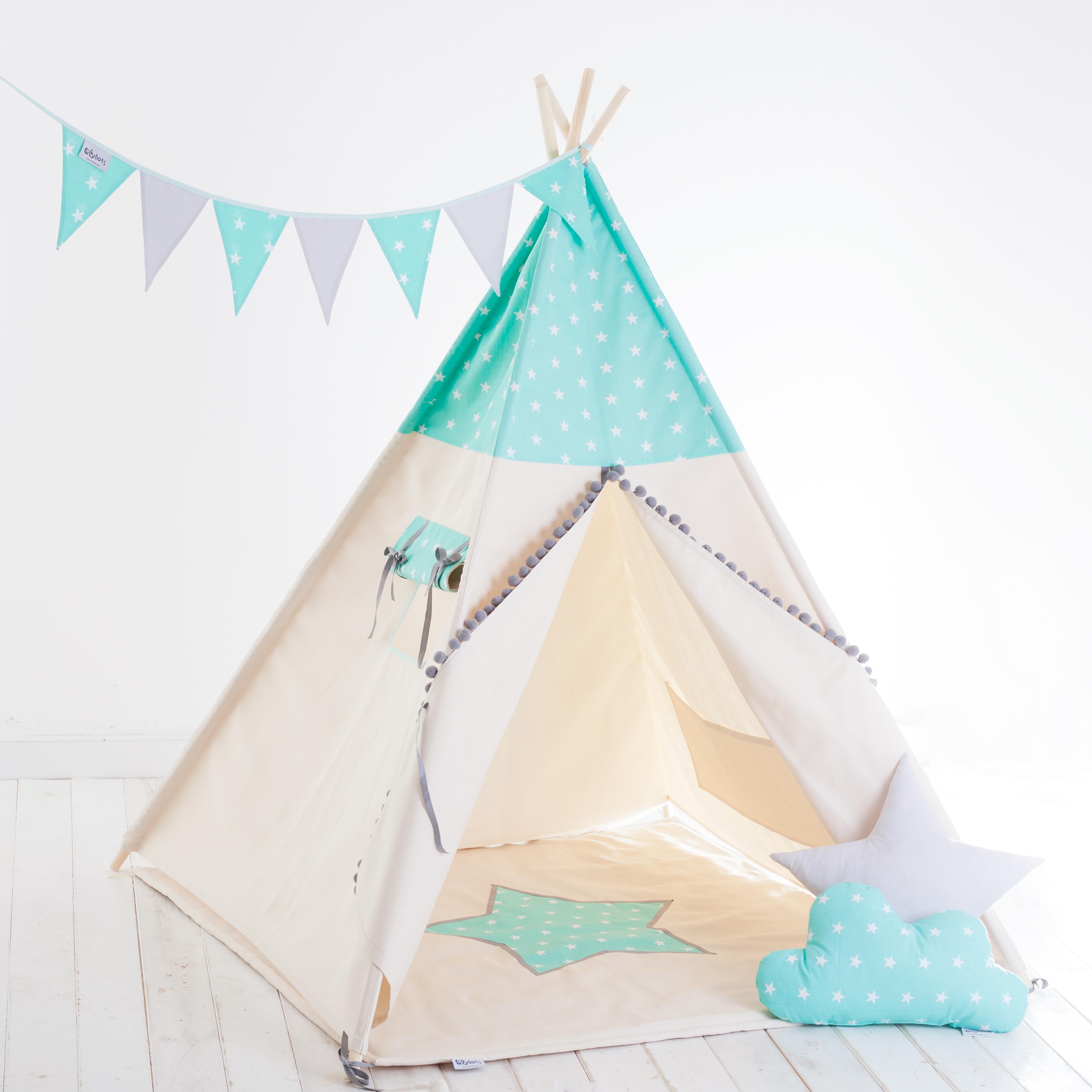 ensemble tipi indien tente pour gar on mint stars boy 7el. Black Bedroom Furniture Sets. Home Design Ideas