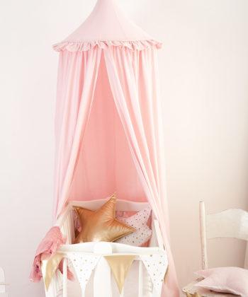 Rosa Baldachin Fur Madchen Betthimmel Pink Frill Cozydots Com