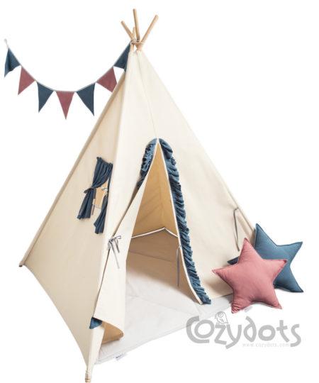 Tipi namiot Blue Frill - zestaw