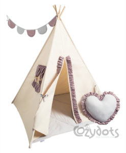 r sche kinderzelt summer tipi f r ein m dchen 6 tlg. Black Bedroom Furniture Sets. Home Design Ideas