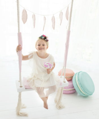 wooden swing for girl
