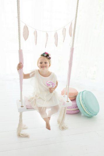 wooden swing for girl