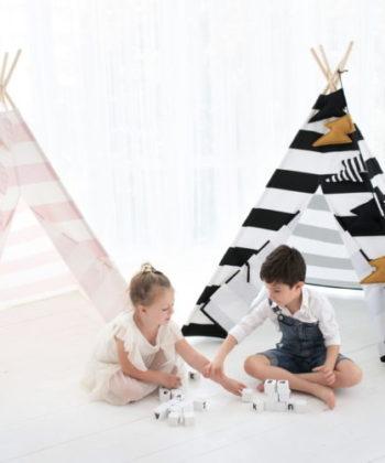 tipi for kids stripes