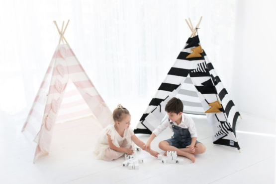 tipi for kids stripes