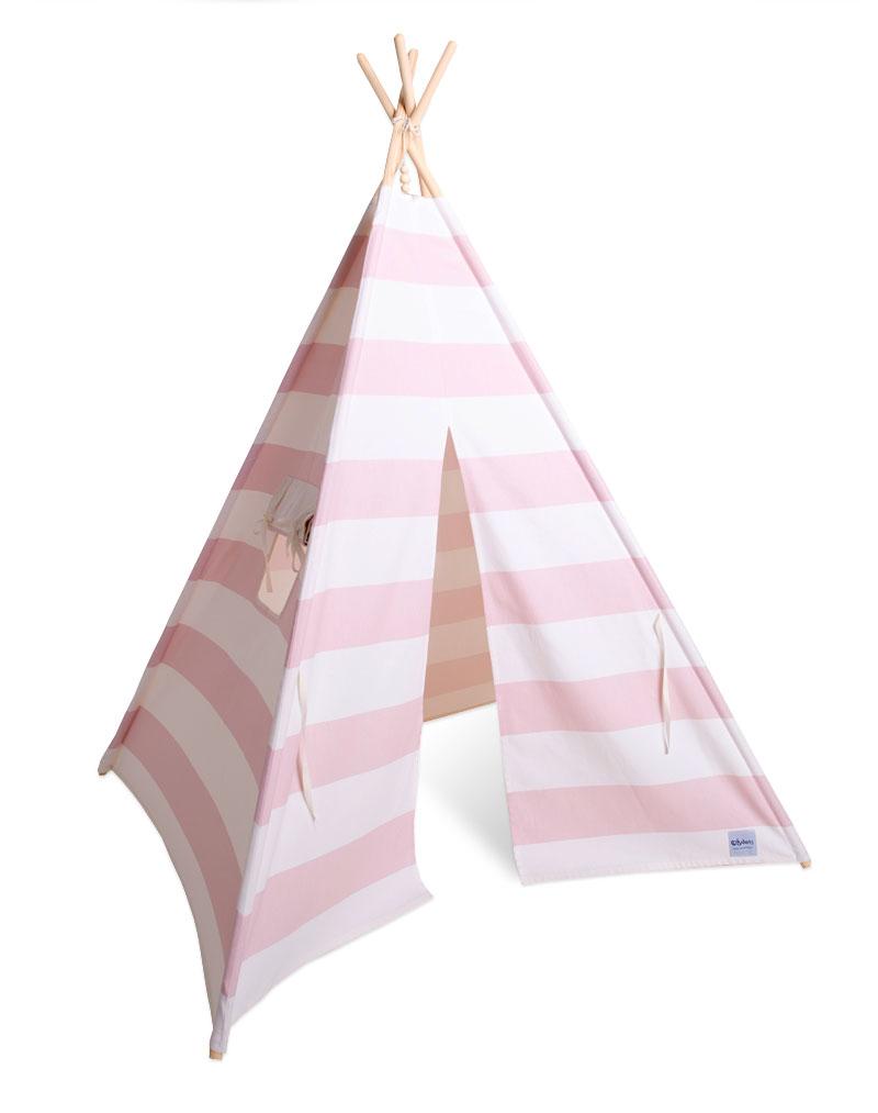 tipi pink stripes