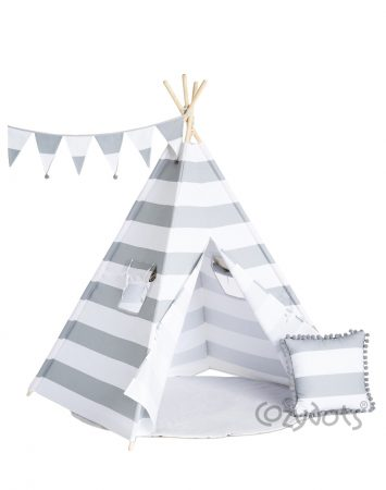 tipi Grey Stripes set
