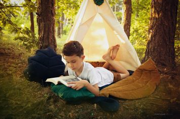 teepee tent forest