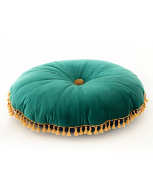 FOREST POUF VELVET GREEN