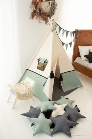 zielony namiot tipi